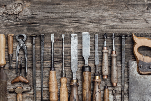 Collection of old woodworking tools Stock photo © stokkete