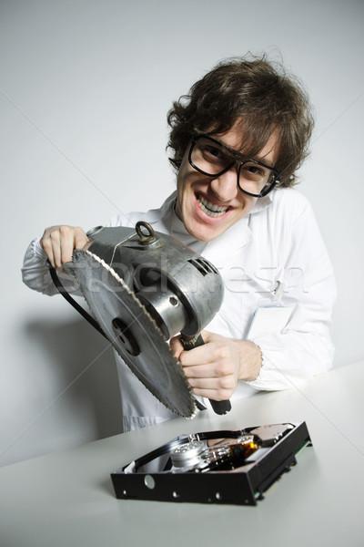 Rombolás számítógép technikus őrült merevlemez technológia Stock fotó © stokkete