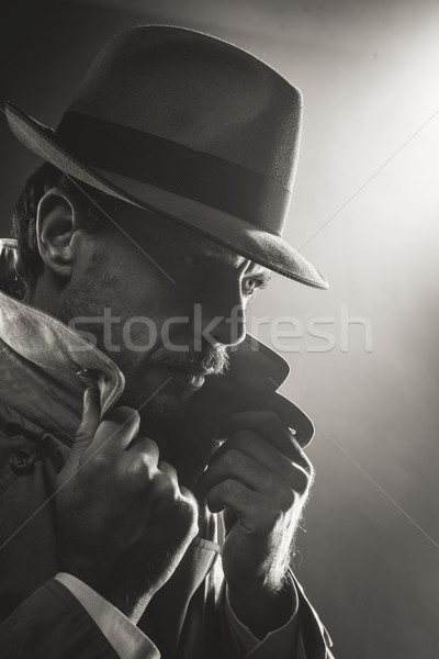 Film noir detective portrait Stock photo © stokkete