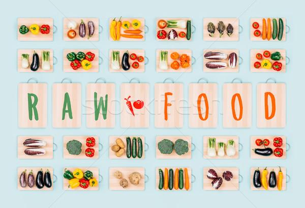 Rauw voedsel gezonde groenten gezond eten vers organisch Stockfoto © stokkete