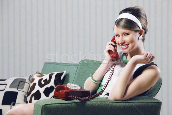 Vintage girl Stock photo © stokkete