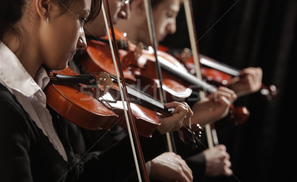 Konser senfoni müzik adam sanat keman Stok fotoğraf © stokkete
