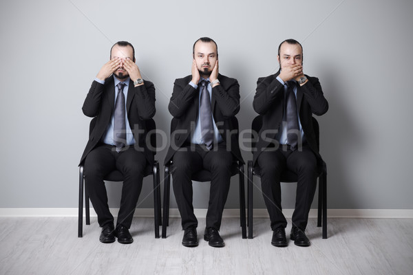three wise businessman Stock photo © stokkete