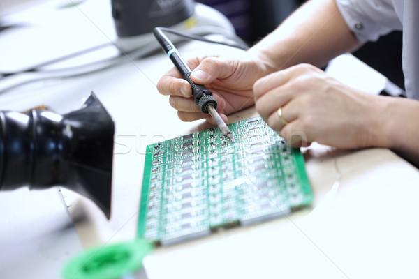 Foto stock: Eletrônico · componente · técnico · componentes · tecnologia · ferramentas
