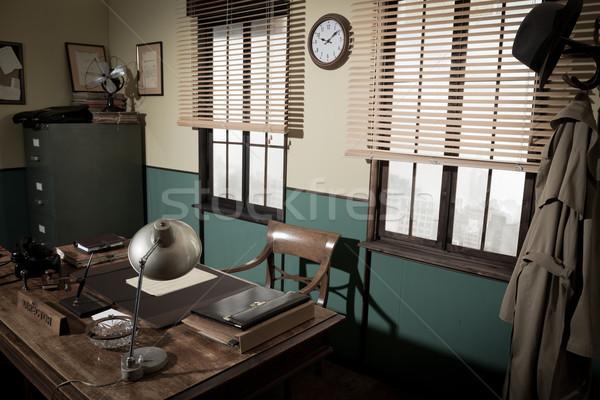 Biurko 1950 stylu biuro vintage telefonu Zdjęcia stock © stokkete