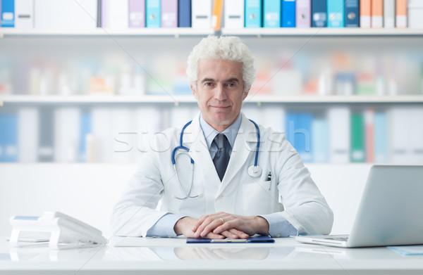 Stock photo: Confident doctor portrait