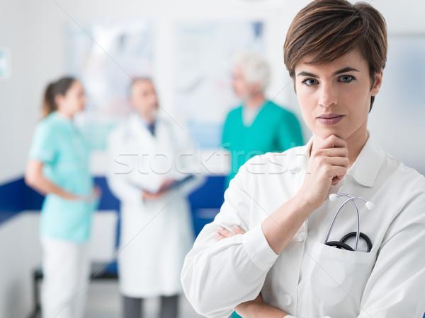 Stok fotoğraf: Profesyonel · tıbbi · personel · takım · çalışma · hastane