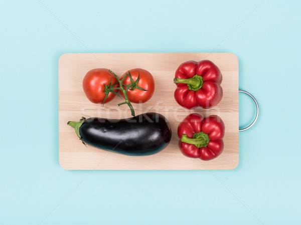 Fresh vegetables on a cutting board Stock photo © stokkete