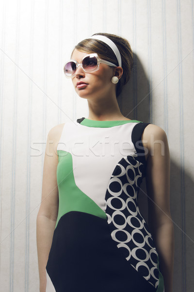 Fashion model with sunglasses Stock photo © stokkete