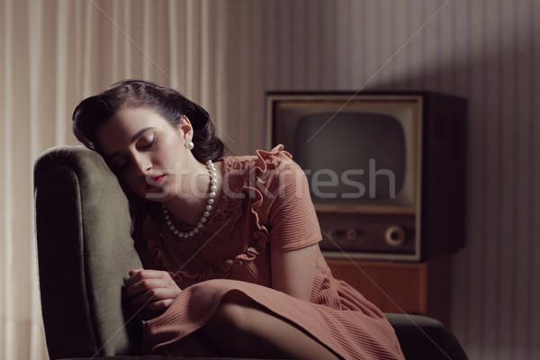 Vintage woman Stock photo © stokkete