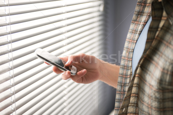 Text messaging on smartphone Stock photo © stokkete
