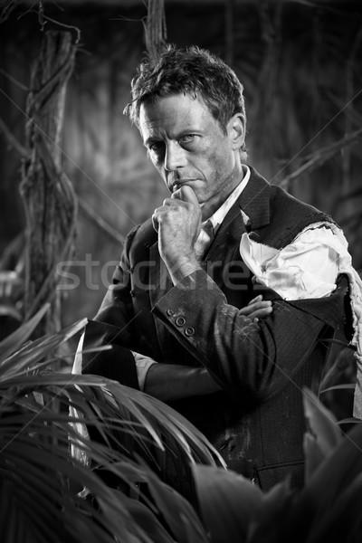 沈痛 ビジネスマン ジャングル 計画 戦略 失わ ストックフォト © stokkete
