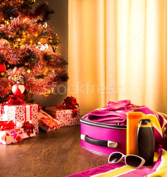 Christmas sun holidays Stock photo © stokkete