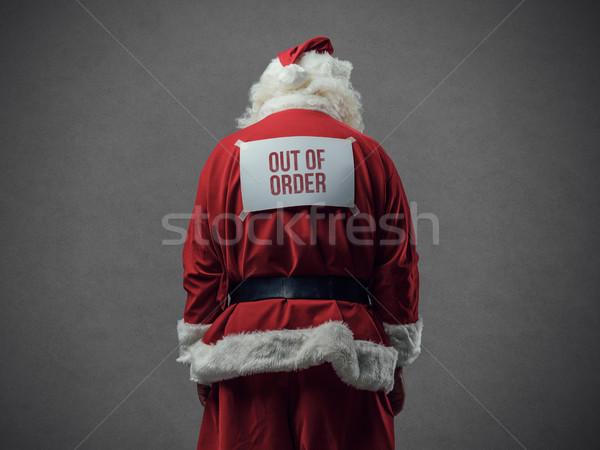 порядка Дед Мороз из знак назад Сток-фото © stokkete