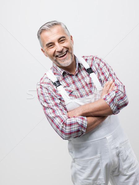 Smiling professional painter portrait Stock photo © stokkete