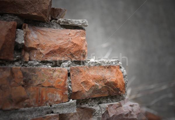 Demolición roto paredes construcción basura sucia Foto stock © stokkete