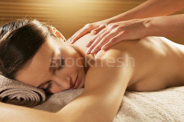 Relaxing back massage at spa Stock photo © stokkete