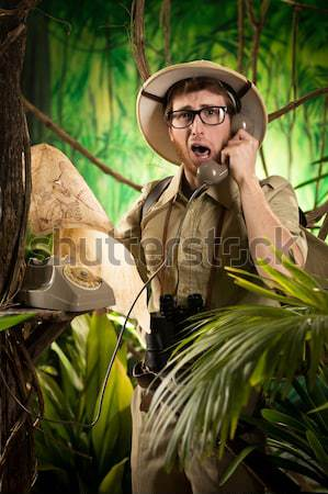 Young adventurer in the jungle Stock photo © stokkete