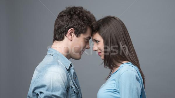 Loving couple posing together Stock photo © stokkete