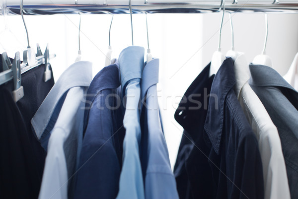 Male shirts hanging on a rack Stock photo © stokkete