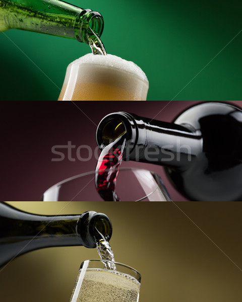 Alcoholic drinks banners set Stock photo © stokkete