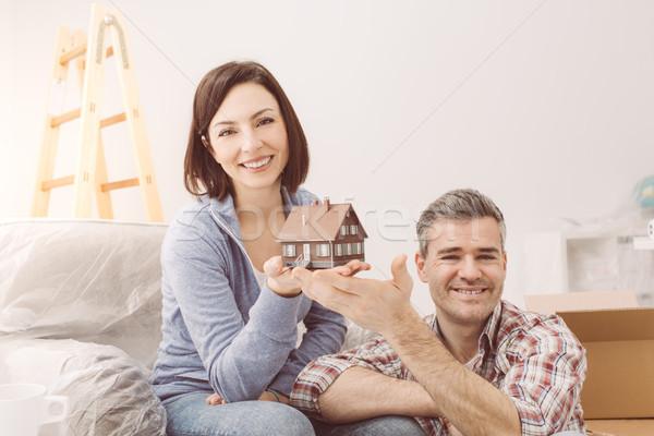 Couple building their house Stock photo © stokkete