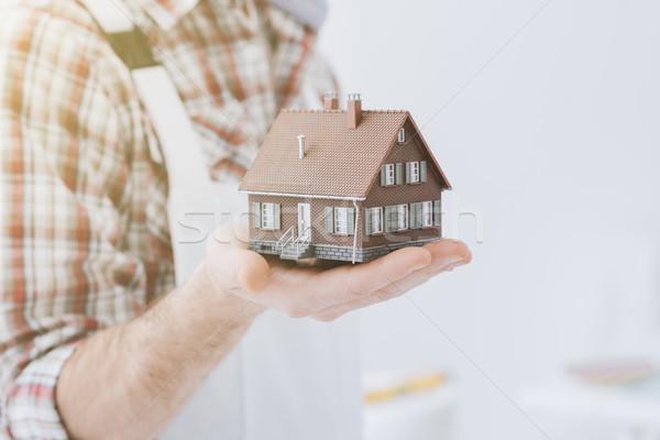 ストックフォト: 建物 · 家 · モデル · 建設