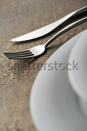 Close-up of silverware , on the dining table. Stock photo © stokkete