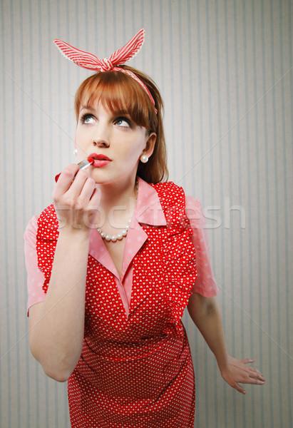 Pin omhoog meisje jonge Stockfoto © stokkete