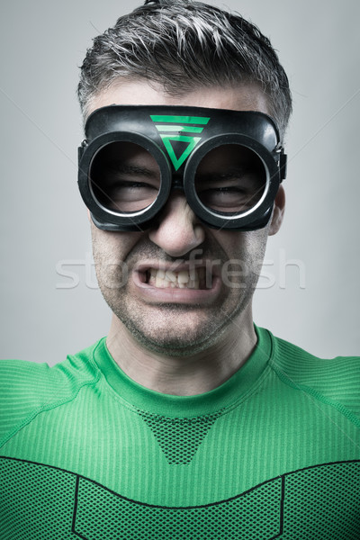 Angry superhero Stock photo © stokkete