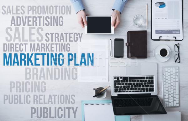 Stock foto: Business · Marketing · Konzepte · Büro · Desktop · Geschäftsmann