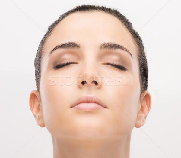 Huid mooie jonge vrouw portret schone Stockfoto © stokkete