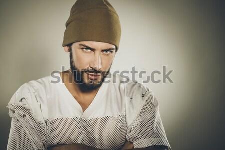 Kötü erkek agresif güçlü tutum Stok fotoğraf © stokkete