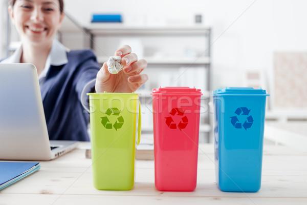 廃棄物 別 コレクション リサイクル 職場 事務員 ストックフォト © stokkete