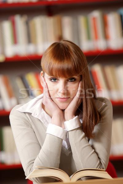 Сток-фото: портрет · женщины · библиотека · женщины · рабочих