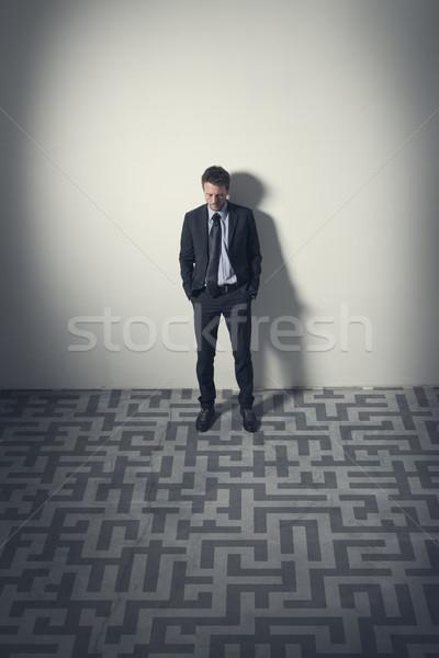 ビジネスマン 計画 戦略 沈痛 見える 迷路 ストックフォト © stokkete