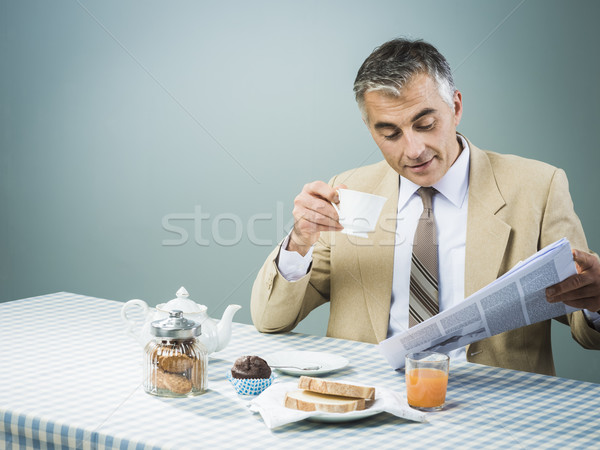 Business having a nutrient breakfast Stock photo © stokkete