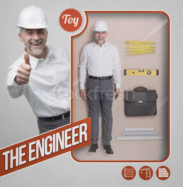 The engineer lifelike doll Stock photo © stokkete