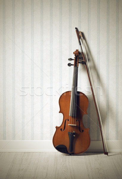 Violino arco música parede papel de parede Foto stock © stokkete
