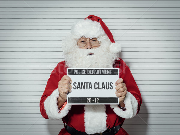Santa Claus mug shot Stock photo © stokkete