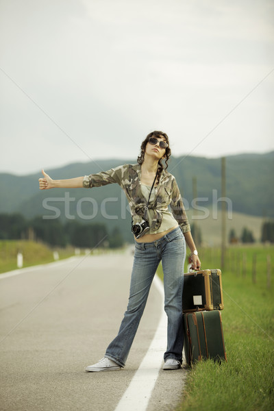 Hitchhiker Stock photo © stokkete