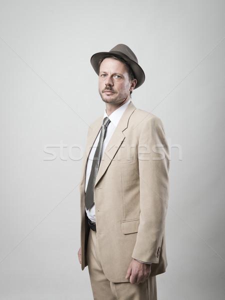 Handsome vintage man portrait Stock photo © stokkete