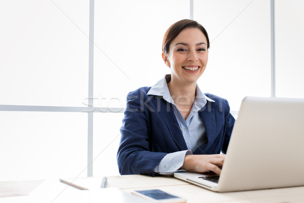 Successful businesswoman portrait Stock photo © stokkete