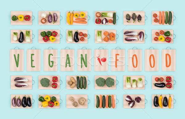Vegan alimentaire légumes fraîches brut Photo stock © stokkete