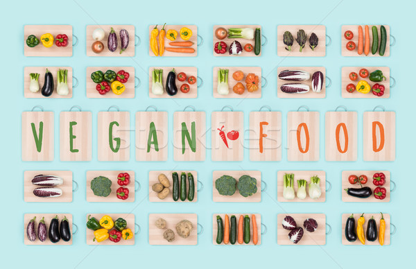 Vegan food and vegetables Stock photo © stokkete