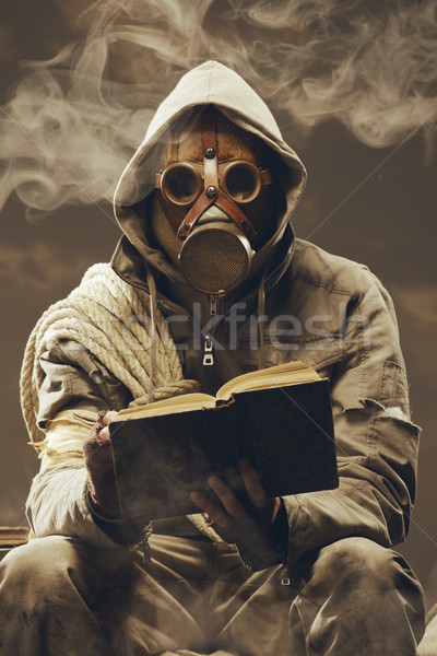 Post apocalyptic student Stock photo © stokkete