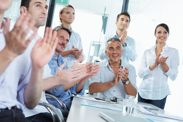Business people clapping in a meeting Stock photo © stokkete