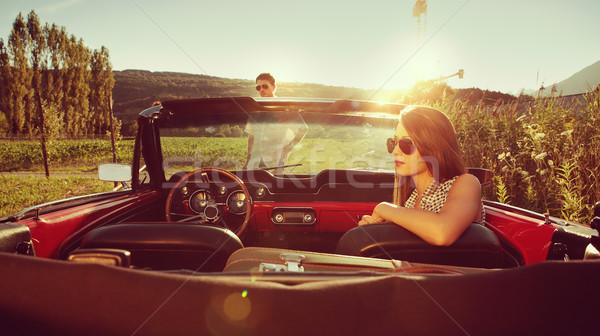 Elveszett fiatal pér autó elvesz törik pár Stock fotó © stokkete