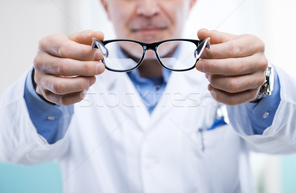 Stock photo: Oculist at work