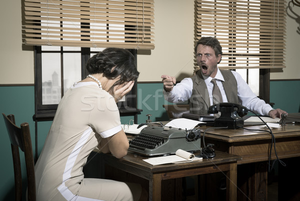 Boss arguing with young secretary in the office Stock photo © stokkete
